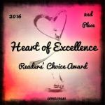 Heart of Excellence Readers' Choice Award